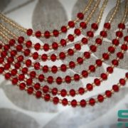 Rani Haar with champagne and red color Pearls