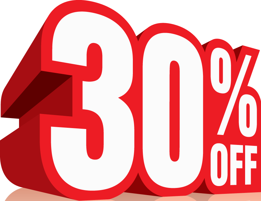 30 % off Discount