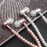 Gentryhive Fashionable Jewelry Pearl Necklace Earphones with Mic Beads 3.5mm In-ear Wired Headphone Connect to SmartPhone, iPhone, iPad,Samsung, BlackBerry